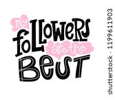 my followers are the best  ...   Shutterstock .eps vector #1199611903