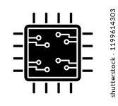 processor with electronic... | Shutterstock .eps vector #1199614303