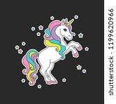 cute magic sticker unicorn ... | Shutterstock .eps vector #1199620966