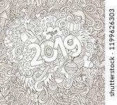 cartoon vector cute doodles...   Shutterstock .eps vector #1199626303