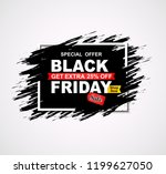 black friday sale banner.... | Shutterstock . vector #1199627050