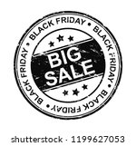 black friday grunge stamp. | Shutterstock . vector #1199627053