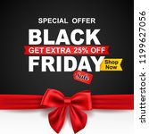 black friday sale with red... | Shutterstock . vector #1199627056