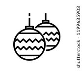 christmas baubles decoration... | Shutterstock .eps vector #1199635903
