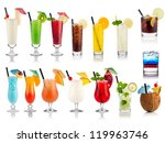 set of cocktails soft and long... | Shutterstock . vector #119963746