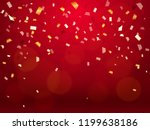vector illustration. confetti... | Shutterstock .eps vector #1199638186