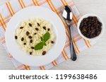 rice porridge with mint  raisin ... | Shutterstock . vector #1199638486