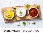 set of sauces   ketchup ... | Shutterstock . vector #1199643229