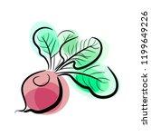 juicy beet vector | Shutterstock .eps vector #1199649226