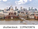 aerial view of london st paul's ... | Shutterstock . vector #1199653876