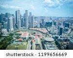 singapore city skyline of... | Shutterstock . vector #1199656669