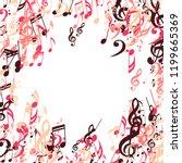 musical symbols. modern...   Shutterstock .eps vector #1199665369