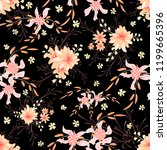 little floral seamless pattern... | Shutterstock .eps vector #1199665396