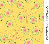 cute dandelion blowing vector...   Shutterstock .eps vector #1199673220
