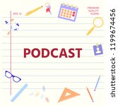 podcast   icon for web and... | Shutterstock .eps vector #1199674456