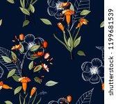 blooming  flowers. realistic... | Shutterstock .eps vector #1199681539