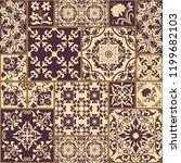 majolica pottery tile  brown... | Shutterstock .eps vector #1199682103