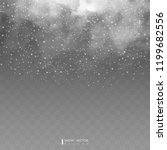 falling snow on a transparent... | Shutterstock .eps vector #1199682556