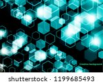 bright abstract techno... | Shutterstock .eps vector #1199685493