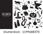 happy halloween. cartoon set of ... | Shutterstock .eps vector #1199688370
