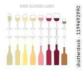 wine glasses and bottles guide... | Shutterstock .eps vector #1199692990