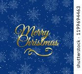 christmas background with... | Shutterstock .eps vector #1199694463