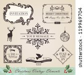 vintage christmas and new year... | Shutterstock .eps vector #119969704