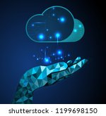 hand holding cloud   future on... | Shutterstock .eps vector #1199698150