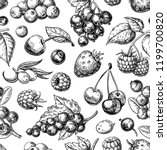 wild berry seamless pattern... | Shutterstock .eps vector #1199700820