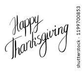 happy thanksgiving vector... | Shutterstock .eps vector #1199700853