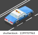 flat 3d isometric police car... | Shutterstock .eps vector #1199707963