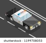 flat 3d isometric police car... | Shutterstock .eps vector #1199708053