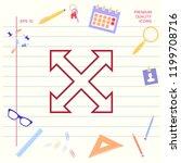 extend  resize  enlarge line... | Shutterstock .eps vector #1199708716