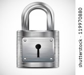 Icon Padlock  Metal Structure