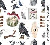 seamless watercolor pattern... | Shutterstock . vector #1199708863