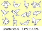 origami animals collection....   Shutterstock .eps vector #1199711626