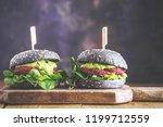 tasty appetizing healthy vegan...   Shutterstock . vector #1199712559