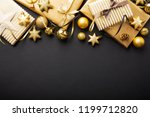 beautiful christmas golden... | Shutterstock . vector #1199712820