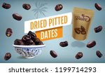 package of dried sweet palm...   Shutterstock .eps vector #1199714293