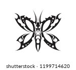 tribal tatto collection set ... | Shutterstock .eps vector #1199714620