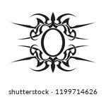 tribal tatto collection set ... | Shutterstock .eps vector #1199714626
