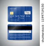vector detailed credit cards... | Shutterstock .eps vector #1199719150