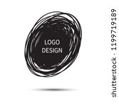 logo design. vector hand drawn... | Shutterstock .eps vector #1199719189