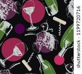 vector seamless wine pattern...   Shutterstock .eps vector #1199720716