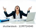 overwhelmed desperate... | Shutterstock . vector #1199724340