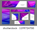 set of abstract web banner... | Shutterstock .eps vector #1199724700