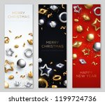 christmas and new year banners... | Shutterstock .eps vector #1199724736