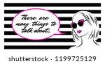 woman in cat eye sunglasses...   Shutterstock .eps vector #1199725129