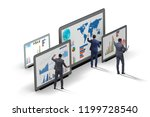 concept of business charts and... | Shutterstock . vector #1199728540