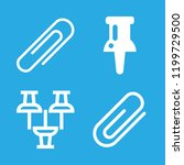 4 paperclip icons with paper...   Shutterstock .eps vector #1199729500